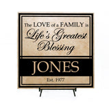 Personalized Family Name Sign, Last Name Established Sign, Realtor Closing Gift for Client, Family Last Name Plaque, Family Christmas Gifts - lasting-expressions-vinyl