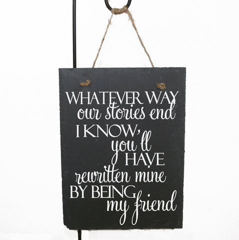 Friend Quote Home Decor Sign, Friend Gift After Loss, Thank You Gift for Friend, Moving Away Remember Quote Sign, Thanks Being Friend Saying - lasting-expressions-vinyl