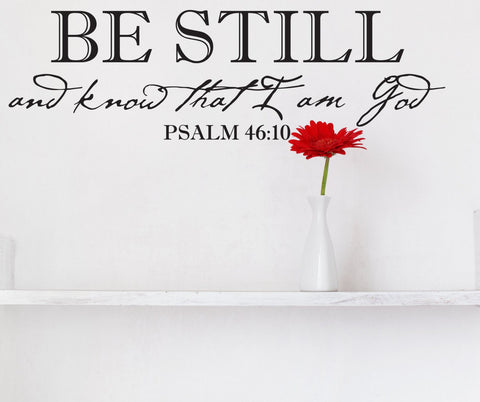 Bible Verse Wall Art, Vinyl Wall Quote about God, Extra Large Wall Art, Be Still Saying for Wall - lasting-expressions-vinyl