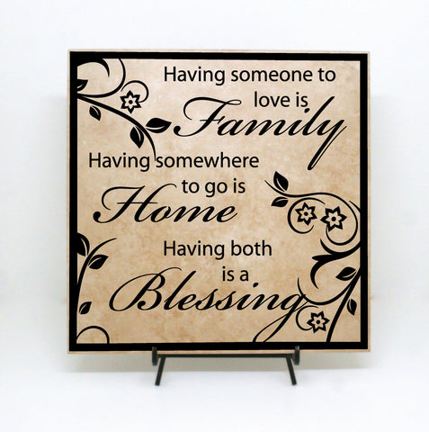 Family Home Blessing Quote Sign - lasting-expressions-vinyl