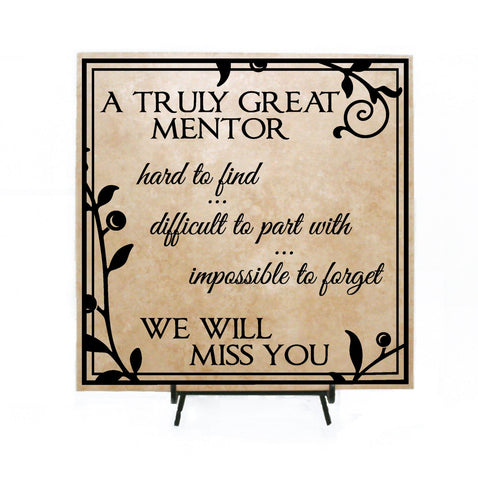 Truly Great Mentor  - Retirement Plaque - lasting-expressions-vinyl