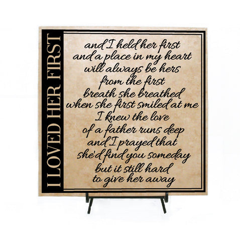 I Loved her first Lyrics Sign - lasting-expressions-vinyl
