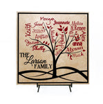 Family Tree Custom Sign Personalized with Names - Gift for Her, Grandparents sign, Family Tree Name Sign, Personalized Gifts, Anniversary - lasting-expressions-vinyl