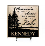 Welcome Sign with Last Name - Welcome to our home on the lake - lasting-expressions-vinyl