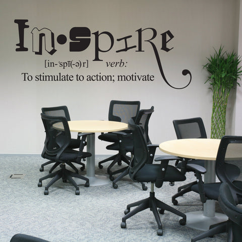 Inspire Wall Words Decal, Vinyl Quote Wall Art, Classroom Wall Decorations, Craft Room Decor, Work Office Inspirational Sign, Vinyl Decal - lasting-expressions-vinyl