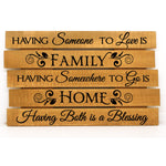 Family Home Blessing Saying on Wood Pallet Sign - lasting-expressions-vinyl
