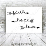 Love Arrow SVG Clipart, Faith Hope Love Quote for Cricut, Arrow Sign Stencil, SVG Clipart for Silhouette, DXF Laser Cutting, Saying to Print - lasting-expressions-vinyl