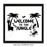Jungle Theme Vector Digital Download - Ready to use Digital File, Vinyl Childhood Saying, Instant Download svg ai pdf, DIY - lasting-expressions-vinyl