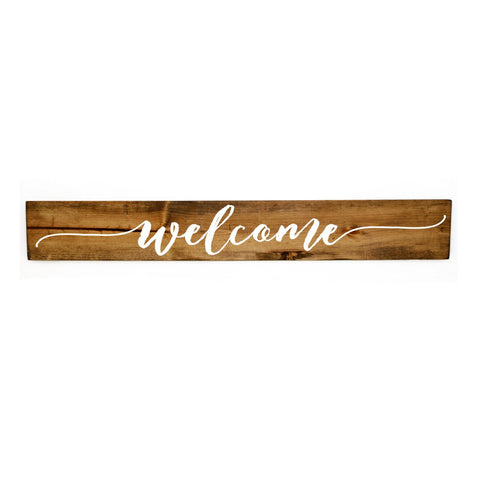 Welcome Sign Wood Home Decor - lasting-expressions-vinyl