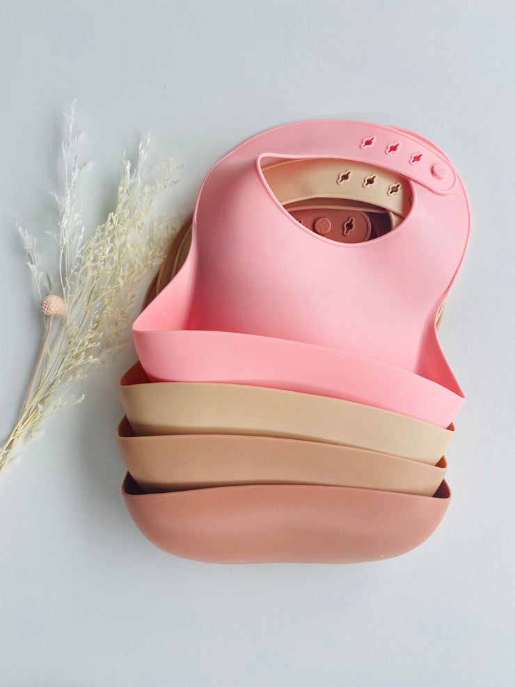 Airlie Grace Silicone Bib - BLUSH PINK
