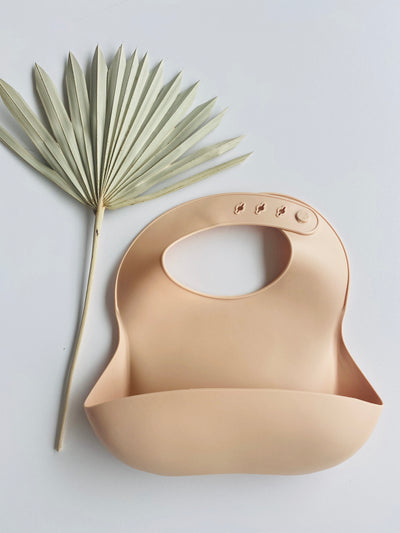 Airlie Grace Silicone Bib - SAND