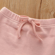 Ribbed Cotton Set - Blush pink