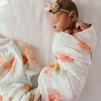 Sorbet Bloom Muslin  Wrap