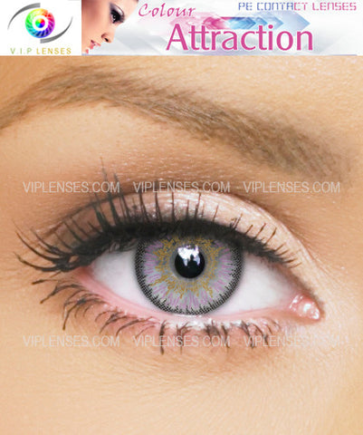 Color Attraction Light Amethyst Contact Lenses