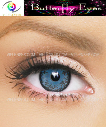 Butterfly Eyes Blue Contact Lenses