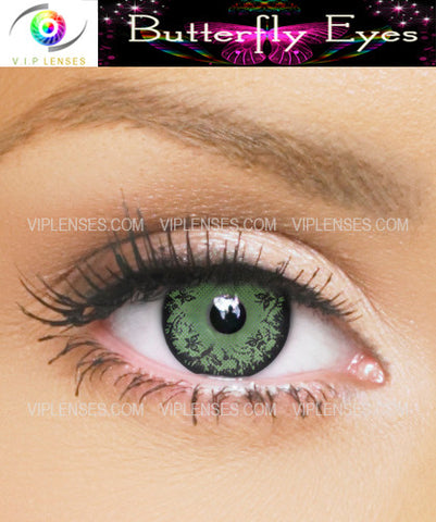 Butterfly Eyes Green Contact Lenses
