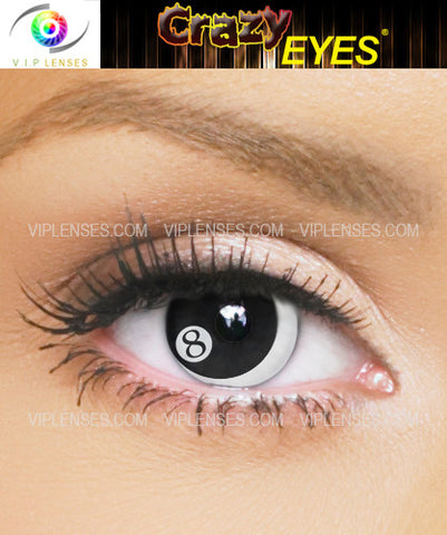 Crazy 8 Ball Contact Lenses