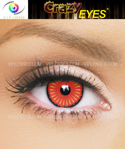Crazy Black Gate Orc Contact Lenses
