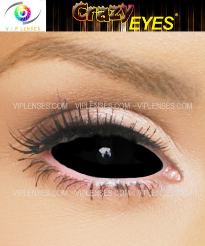 Crazy Black Sclera Contact Lenses
