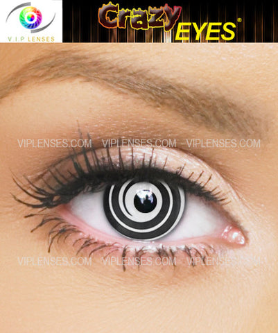 Crazy Black Spiral Contact Lenses