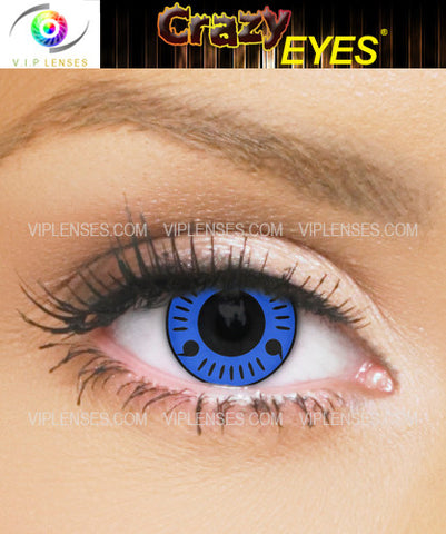 Crazy Blue Itachi Contact Lenses