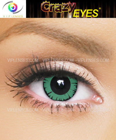 Crazy Green Doll Contact Lenses