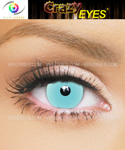 Crazy Glow in the Dark Blue Contact Lenses