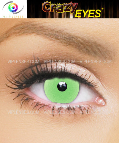 Crazy Glow in the Dark Green Contact Lenses