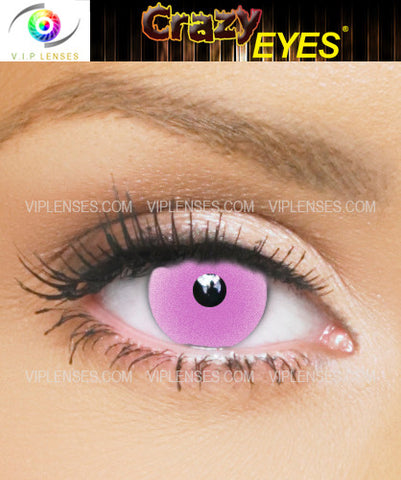 Crazy Glow in the Dark Pink Contact Lenses