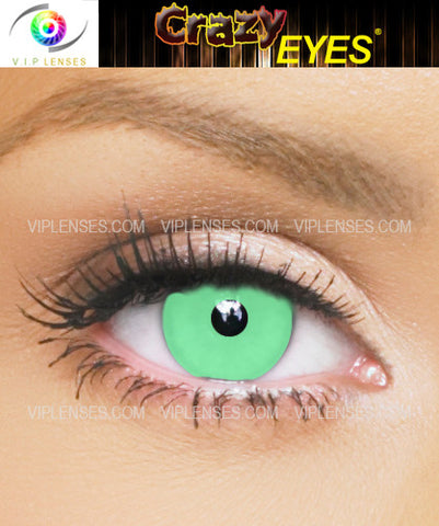 Crazy Green Ghoul Contact Lenses