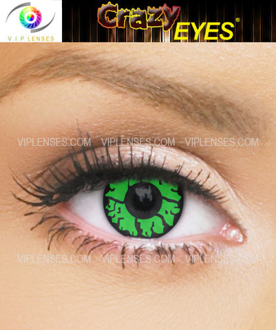 Crazy Green Goblin Contact Lenses