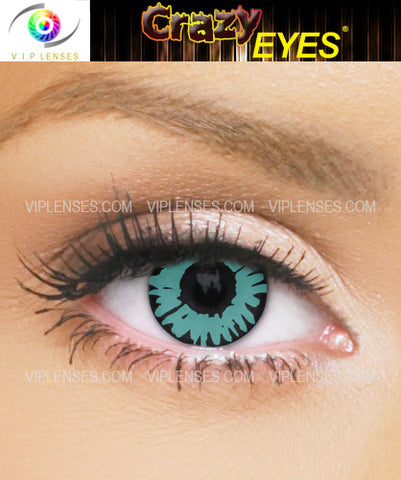 Crazy Green Wolf Contact Lenses