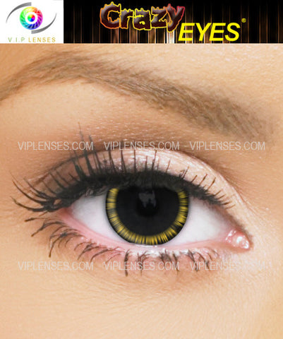 Crazy Halo Yellow Contact Lenses