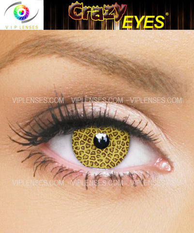 Crazy Leopard Contact Lenses