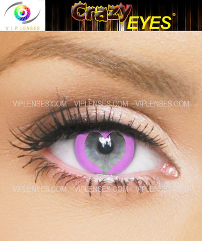 Crazy Love Heart Contact Lenses