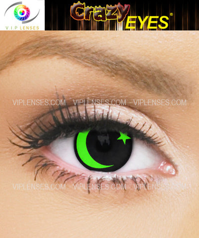 Crazy Moon and Star Contact Lenses