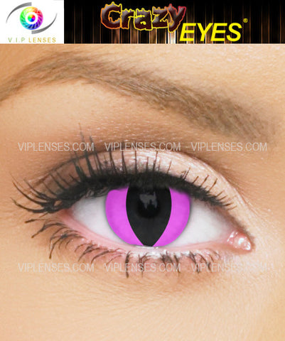 Crazy Pink Cat Contact Lenses