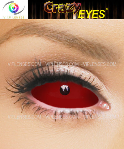 Crazy Red Sclera Contact Lenses