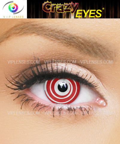 Crazy Red Spiral Contact Lenses