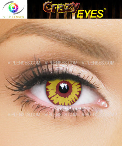 Crazy Red Wolf Contact Lenses