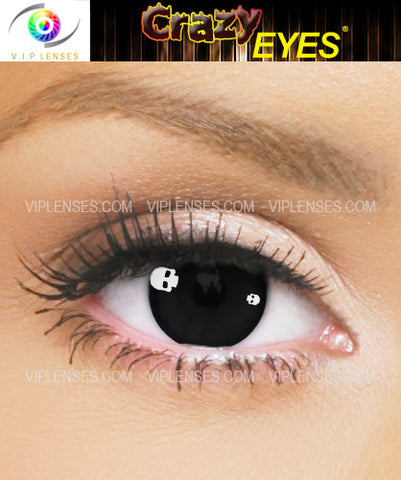Crazy Skull Contact Lenses