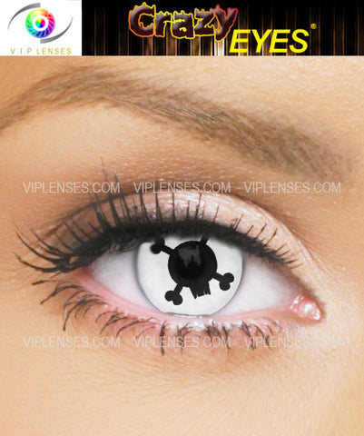 Crazy Skull and Cross Bones Contact Lenses