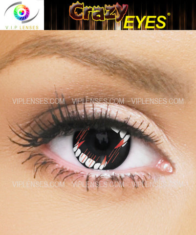 Crazy Vampire Teeth Contact Lenses
