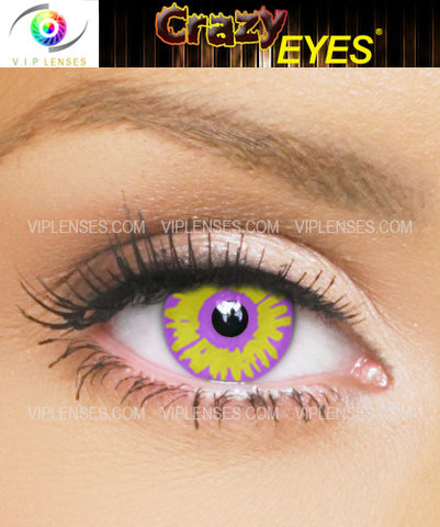 Crazy Violet Wolf Contact Lenses