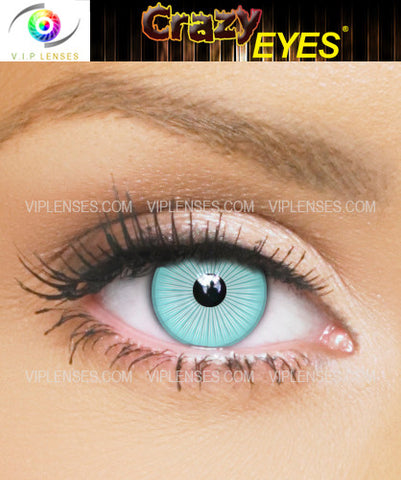 Crazy White Ice Contact Lenses