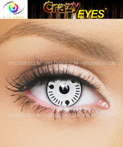 Crazy White Itachi Contact Lenses