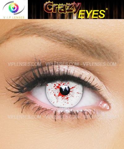 Crazy White Zombie Contact Lenses