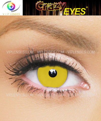 Crazy Yellow Contact Lenses