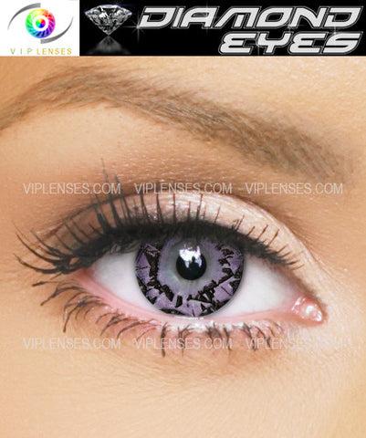Diamond Eyes Amethyst Contact Lenses