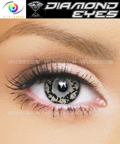 Diamond Eyes Citrine Contact Lenses